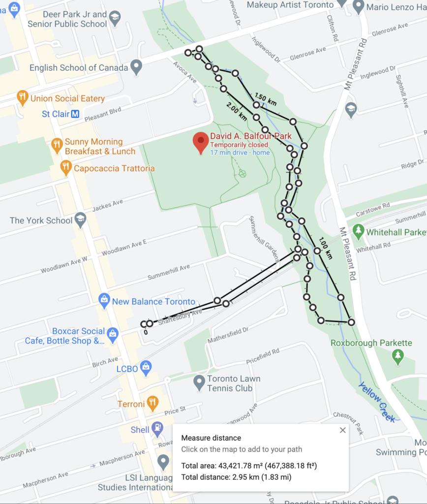 parc David A. Balfour STROLL 15 in Toronto Best Urban Strolls by Nathalie Prezeau circuit