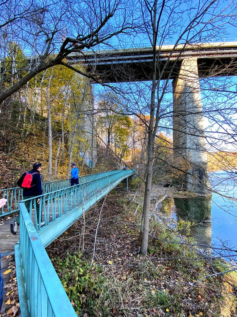 Humber River north of Dundas West viaduct #torontourbanstrolls #32 in Toronto Best Urban Strolls by Nathalie Prezeau