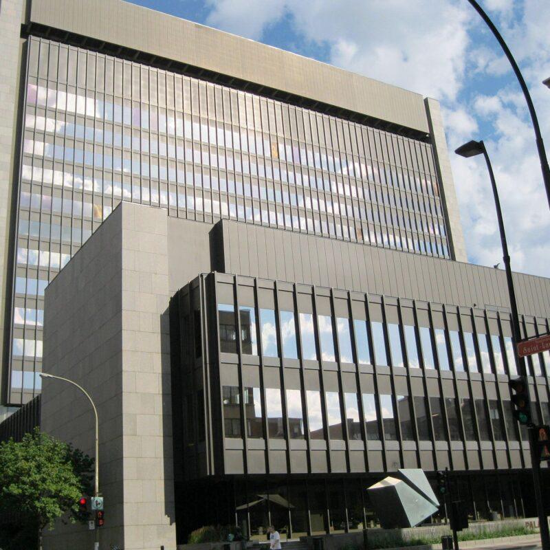 Le Palais de Justice de Montréal.