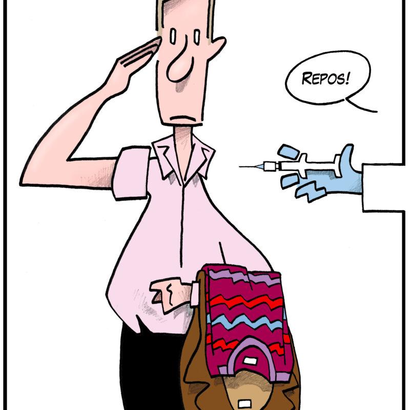 Bado Caricature vaccin armée