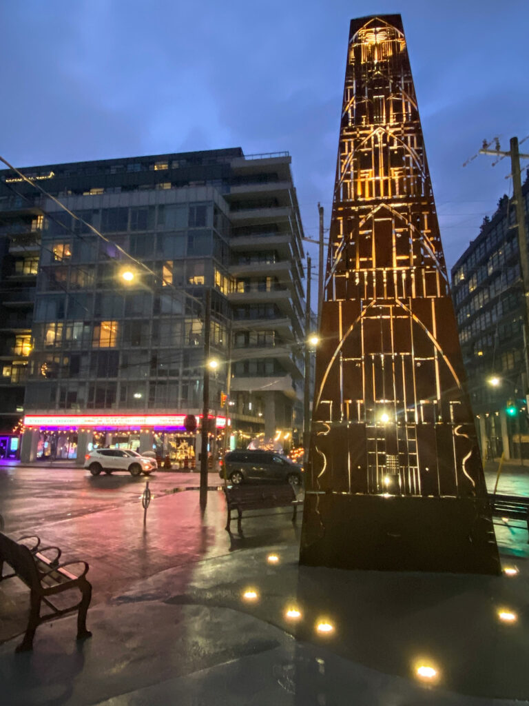 2 Brick Obelisk by Pierre Poussin #torontourbangems by Nathalie Prezeau