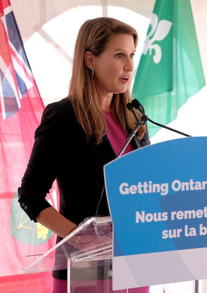 La ministre des Affaires francophones, Caroline Mulroney