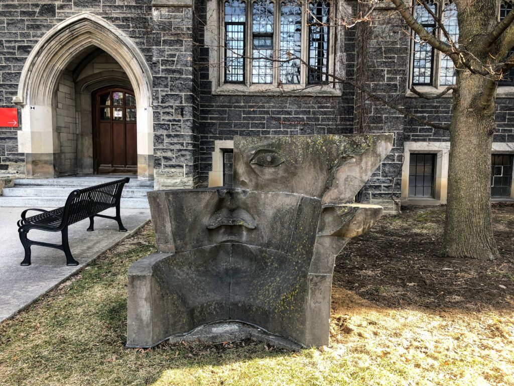 Changement de perspective by Evan Penny near Hart House at UofT