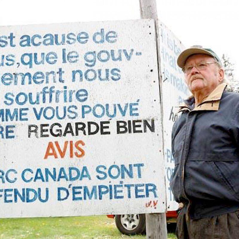 Jackie Vautour parc Kouchibouguac Acadie