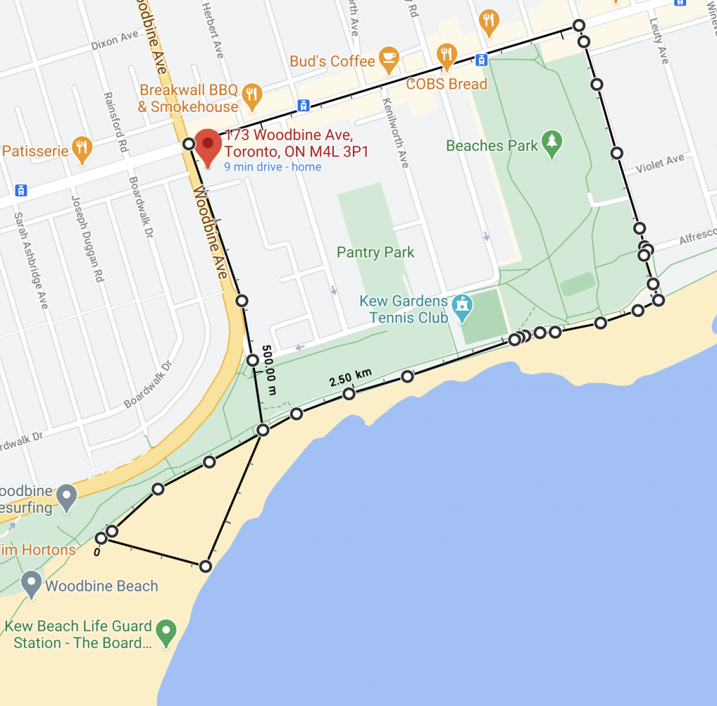 Beach Beaches plage Woodbine circuit de marche