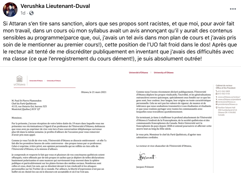 Amir Attaran, Québec-bashing, Université d'Ottawa, anti-francophone