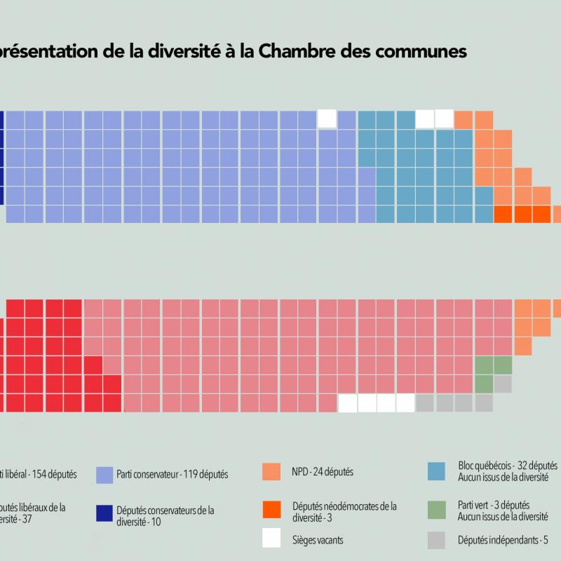 Diversité Chambre des communes minorités visibles