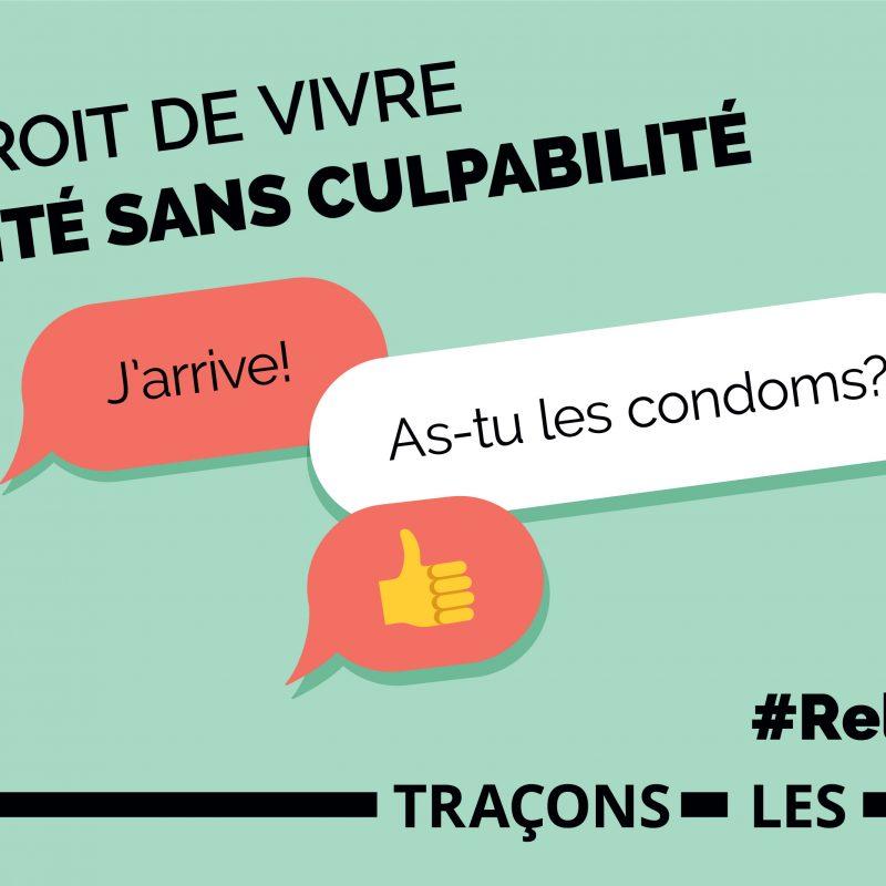 Affiche de la campagne «Traçons-les-limites» pour le mois de la prévention de l'agression sexuelle.