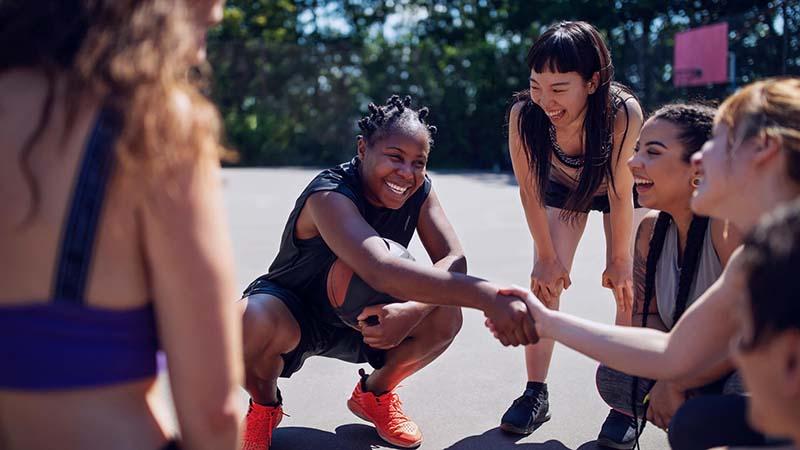femmes, filles, sport
