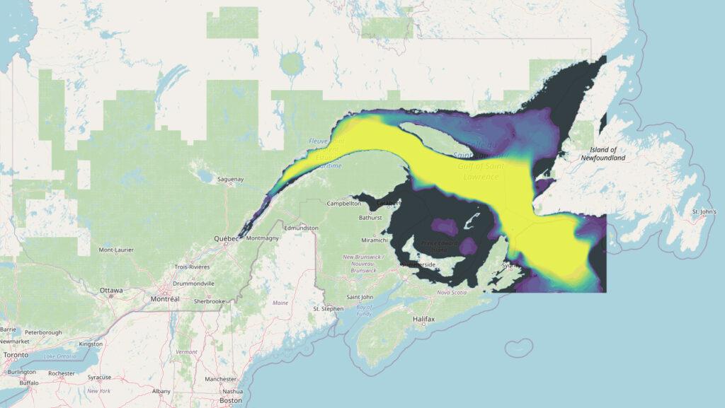 pollution sonore, golfe du Saint-Laurent