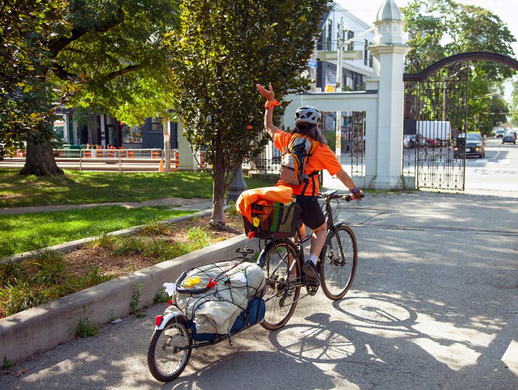 vélo, lettres d'enfants, eau potable, réserves autochtones