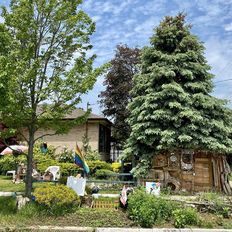 maison enchantée, maison sous un arbre, Scarborough, East Point Park