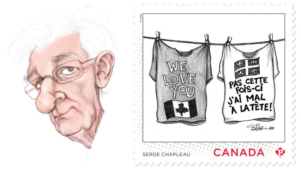 Postes Canada, timbres, caricaturistes
